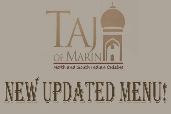 Updated Menu of Taj of Marin