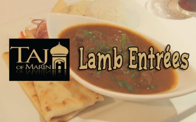 Taj of Marin Lamb Entrees