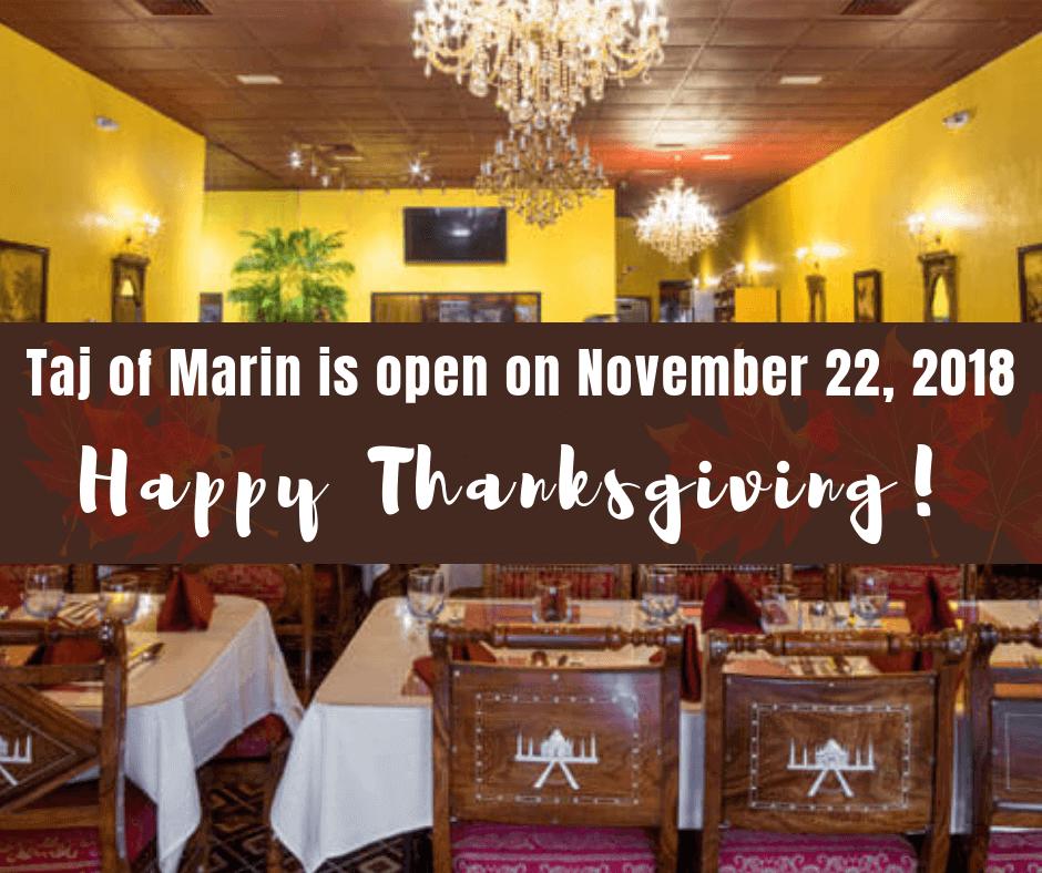 Happy Thanksgiving from Taj of Marin!