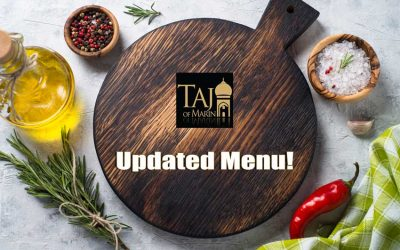 Taj of Marin Updated Menu